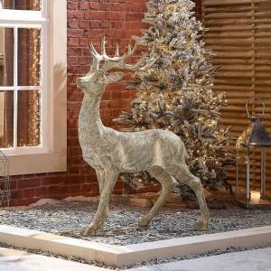 Nova Garden TWW Polyresin Buck 130cm Gold Christmas Reindeer