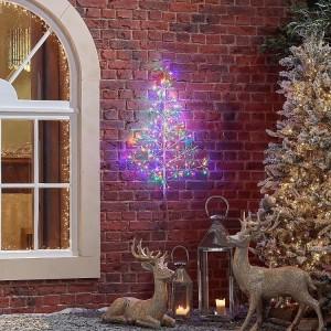 Acrylic 90cm Starburst Multi Coloured Christmas Tree