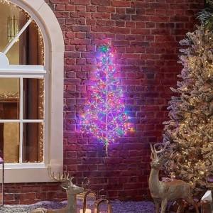 Acrylic 120cm Starburst Multi Coloured Christmas Tree