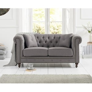 Mark Harris Furniture Montrose Grey Linen Fabric 2 Seater Sofa
