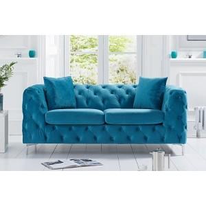 Mark Harris Alegra Teal Plush 2 Seater Sofa