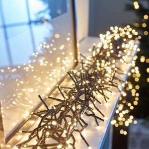 1500 Warm White LED Cluster Christmas Lights