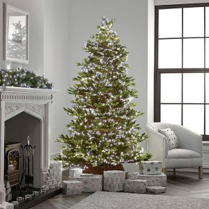 1000 Cool White LED Compact Cluster Christmas Tree Lights