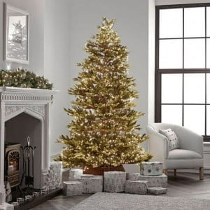 1000 Warm White LED Compact Cluster Christmas Tree Lights