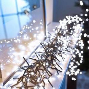 960 Cool White LED Cluster Christmas Lights
