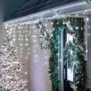 Nova Garden TWW 960 Cool White LED Snowing Icicle Lights