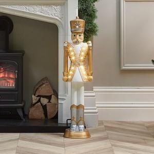 Norbert Gold 3ft Christmas Nutcracker