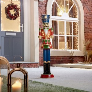 Nova Garden TWW Polyresin Norbert Red 3ft Christmas Nutcracker with Drum - PRE ORDER