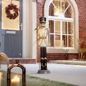 Nova Garden TWW Polyresin Norbert Grey 3ft Christmas Nutcracker with Staff - PRE ORDER