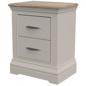 Cobble Grey Painted Furniture 2 Drawer Bedside Cabinet