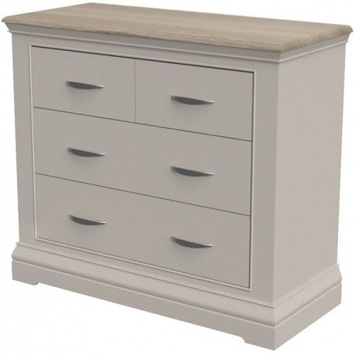 Cobble Grey Painted Furniture 2 Over 2 Chest of Drawers