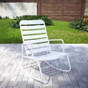 Cosco Outdoor Living Novogratz Roberta Rocker in White