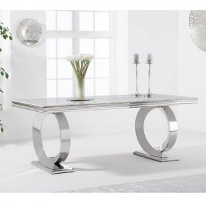 Mark Harris Hardwick Furniture 200cm Marble Rectangular Dining Table