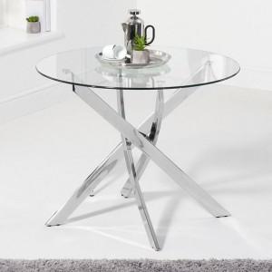 Mark Harris Daytona Furniture 95cm Round Glass Dining Table
