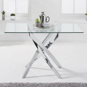 Mark Harris Daytona Furniture 120cm Rectangular Glass Dining Table