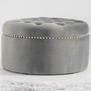 Mark Harris New England Furniture Grey Velvet Footstool
