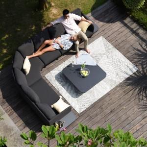 Maze Lounge Outdoor Fabric Cove Charcoal Corner Sofa Group