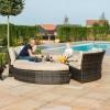Maze Rattan Garden Furniture Brown Chelsea Lifestyle Sofa Set & Glass Table Top - PRE ORDER