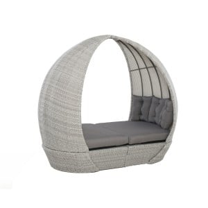 Maze Rattan Garden Furniture Ascot Daybed With Weatherproof Cushions