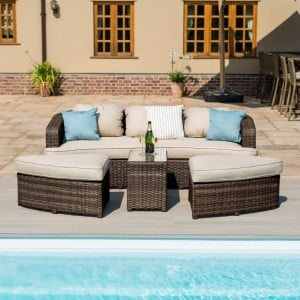 Maze Rattan Garden Furniture Toronto Brown Daybed