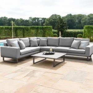 Maze Lounge Outdoor Fabric Ethos Flanelle Large Corner Group Sofa Set - PRE ORDER