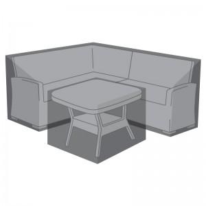 Nova Garden Furniture Cambridge Black Compact Corner Dining Set Cover