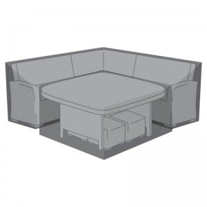 Nova Garden Furniture Cambridge Black Deluxe Corner Dining Set Cover