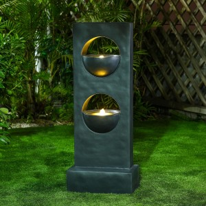 Nova Garden Furniture Harmony Light Grey Water Feature with 2 LED Lights