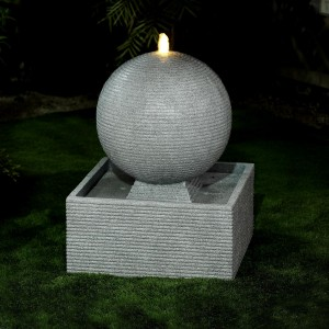 Nova Garden Furniture Axel Large Light Grey Water Feature with 1 LED Light