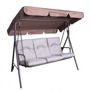 Royalcraft Metal Garden Furniture Amalfi Oatmeal 3 Seater Swing Bench