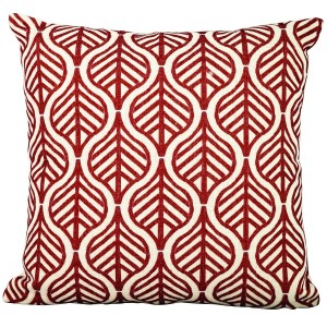 Royalcraft Garden Red Leaves on White Scatter Cushion Set of 4