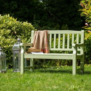 Royalcraft Garden Furniture Wooden Porto Green 2 Seater Bench Turnbury