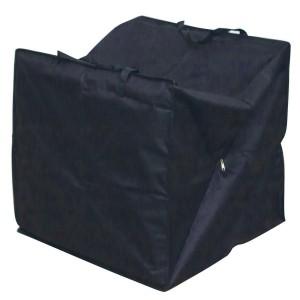 Royalcraft Garden Heavy Duty Polyester Medium Cushion Storage Bag Cover in Black