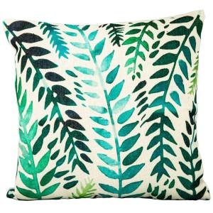 Royalcraft Garden Green Zanzi Leaf on White Scatter Cushion Set of 4