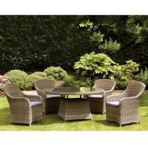 Royalcraft Garden Furniture Wentworth 4 Seater Round Imperial Dining Set