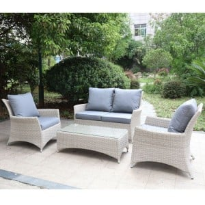 Royalcraft Garden Lisbon Rattan Deluxe 4 Seater 4pc Lounging Coffee Set