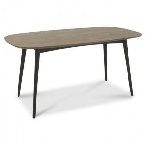 Vintage Weathered Oak Dining Furniture 6 Seater Table