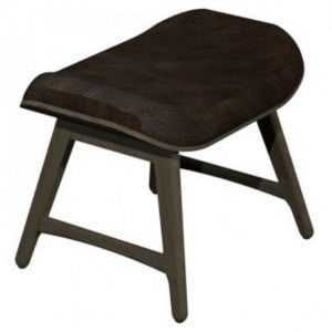 Vintage Weathered Oak Dining Furniture West Vintage Footstool