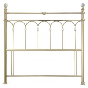Bentley Designs Krystal Metal Furniture Champagne Brass 4ft6 135cm Double Headboard