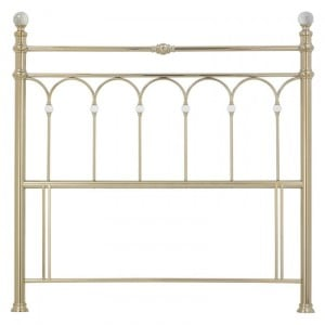 Bentley Designs Krystal Metal Furniture Champagne Brass 5ft 150cm King Size Headboard