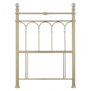 Bentley Designs Krystal Metal Furniture Champagne Brass Single 3ft 90cm Headboard