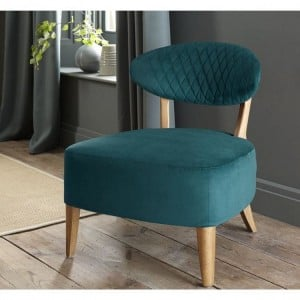 Margot Living Room Furniture Sea Green Velvet Fabric Casual Chair