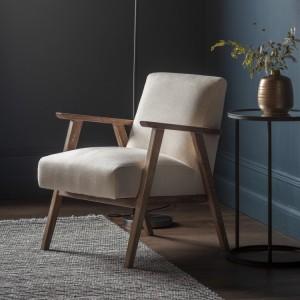 Gallery Direct Furniture Neyland Armchair Natural Linen
