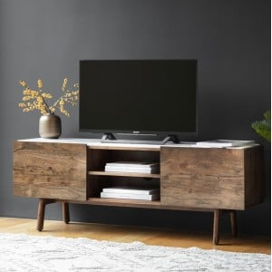 Gallery Direct Furniture Barcelona Acacia Media Cabinet