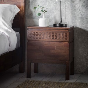 Gallery Direct Furniture Boho Retreat Mango Bedside Table