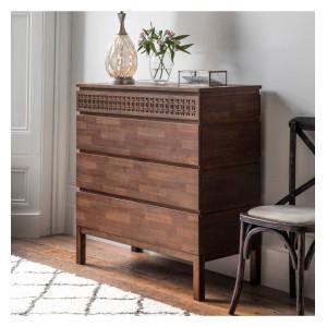 Gallery Direct Furniture Boho Retreat Mango 4 Drawer Chest