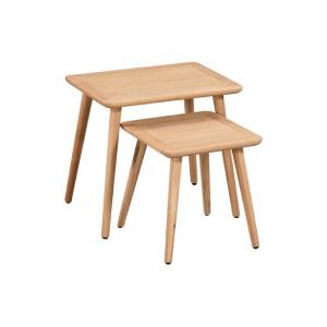 Devonshire Copenhagen Oak Furniture Nest Of Tables