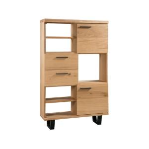 Devonshire Hanover Industrial Oak Furniture High Display Cabinet