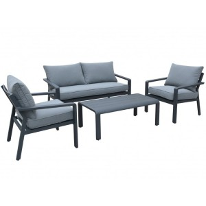Maze Rattan Verona Garden Furniture Grey 2 Seater Sofa Set