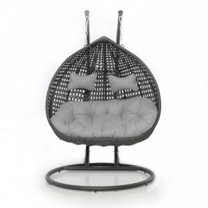 Maze Rattan Rose Garden Furniture Grey Outdoor Hanging Chair